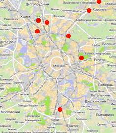 Карта организаций