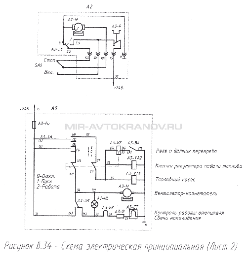 В.34 Схема электрическая