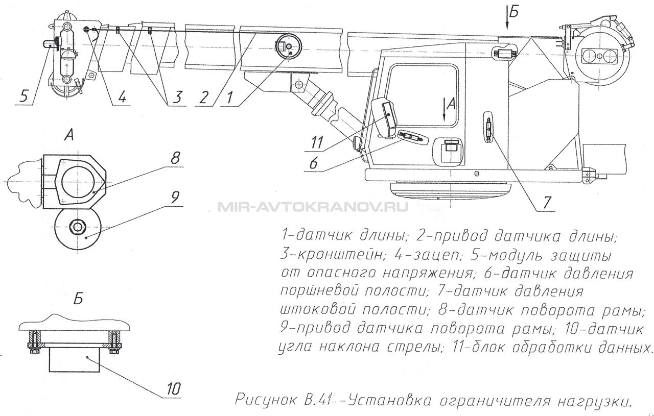 схема запасовки каната кс 54712